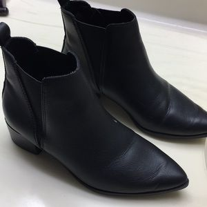 Black pointy booties